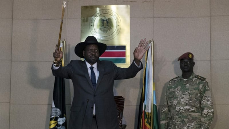 Rivalry between President Salva Kiir and opposition leader Riek Machar sparked the war [Adriane Ohanesian/Reuters]