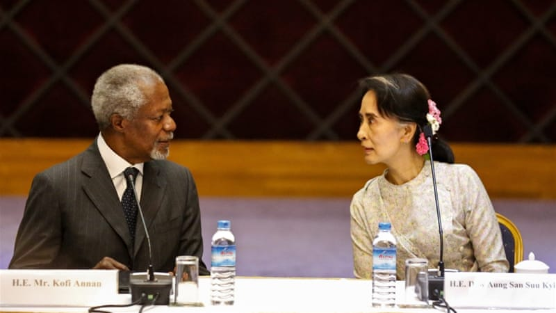Annan will try to find ways to heal wounds in bitterly divided Rakhine state [EPA]