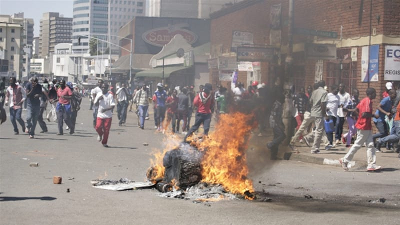Zimbabwe has seen months of anti-government protests [EPA]
