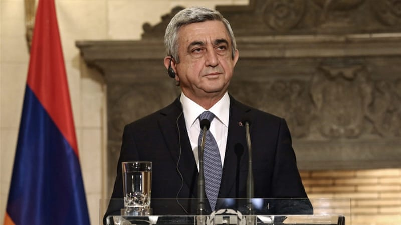 President Serzh Sarkisyan had promised to reshuffle his cabinet in the wake of a hostage crisis [EPA]