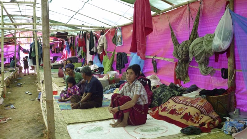 Kachin State has been beset by a conflict since 2011 and thousands have fled to China in recent weeks [AP]