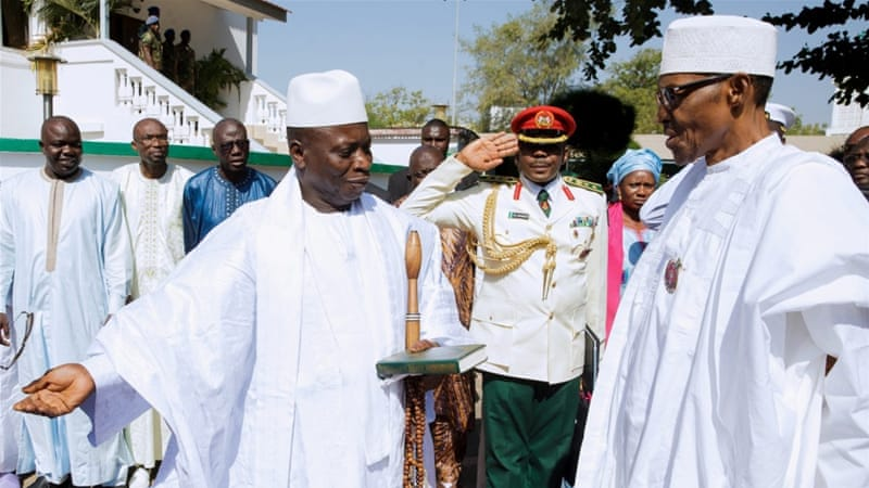 Jammeh, at left, has been in power in Gambia for more than 20 years