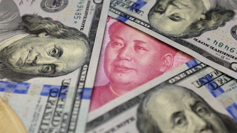 Since 2014 the Chinese yuan has fallen 14 percent against the dollar, writes Babones [Reuters]