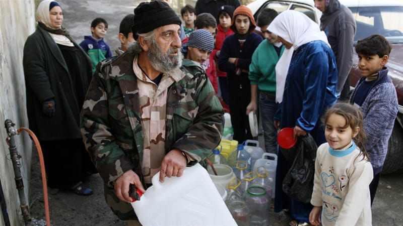 Wadi Barada is the main source of water for Damascus [Youssef Badawi/EPA]