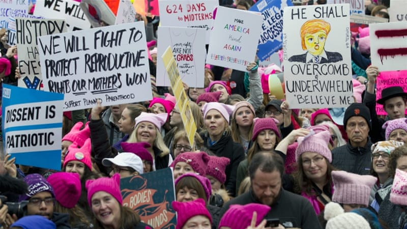 Organisers of the Women's March on Washington expect more than 200,000 people to attend the gathering [AP Photo/Jose Luis Magana]
