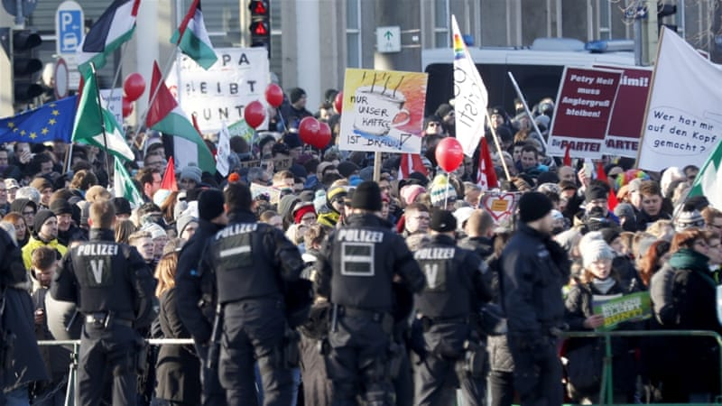 Protests against far right conference