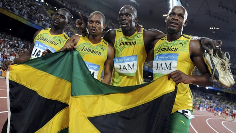 Jamaica's 4x100m squad was made up of Powell, Bolt, Carter and Frater [Kai Pfaffenbach/Reuters]