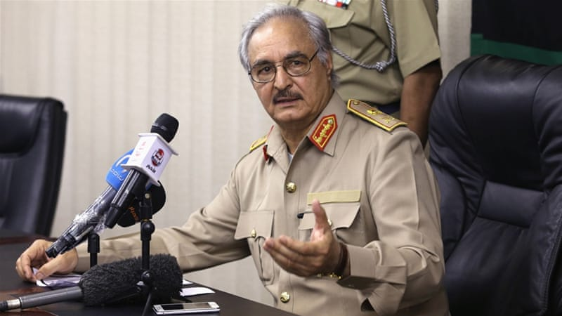 Haftar claims to control most of the eastern part of Libya [File Photo: Esam Omran Al-Fetori/Reuters]