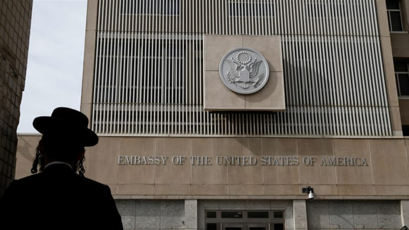 The US embassy in Israel is currently in Tel Aviv [Baz Ratner/Reuters]
