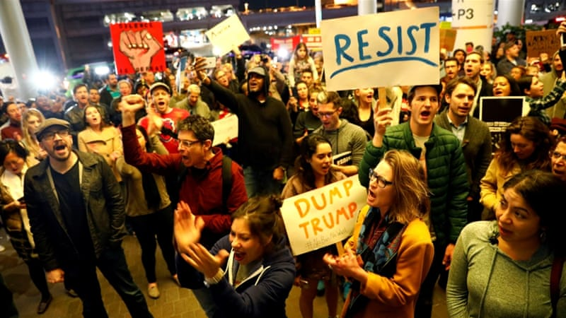 Protests have continued in US cities across the country [Patrick T Fallon/Reuters]