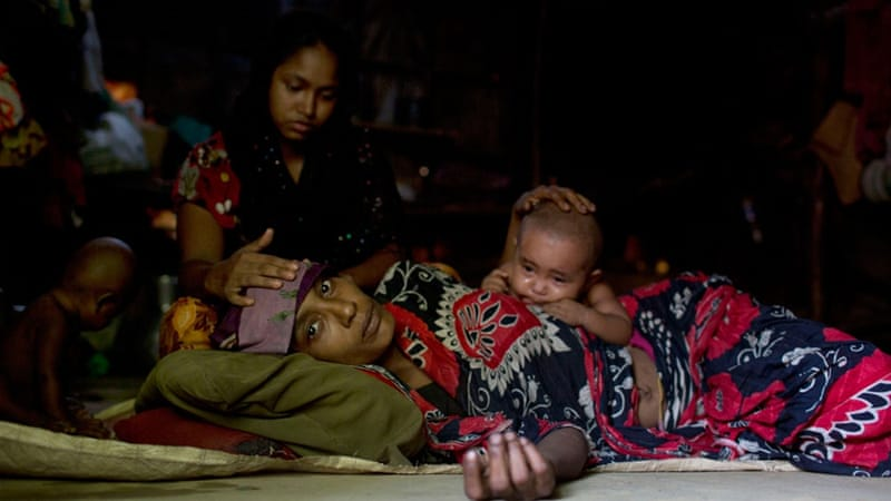 Those who fled to Bangladesh live in poor conditions in camps in Cox's Bazar district, which is home to the country's biggest tourist resort [AP]