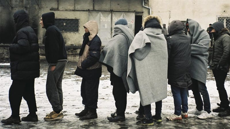 stranded and sick refugees endure harsh serbian winter serbia