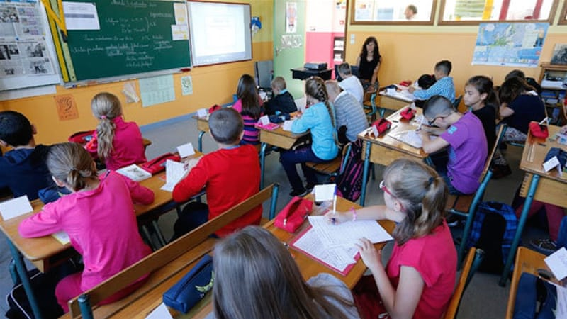 The school offered Arabic classes as an optional lesson [File: Pascal Rossignol/Reuters]