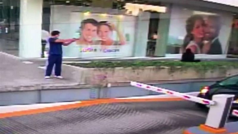 Waiting outside a shopping centre's garage, the attacker raised his gun and fired at the car [Facebook/US Consulate In Guadalajara]