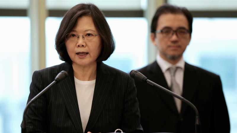 Tsai has repeatedly called for international support to defend Taiwan's democracy [File: Tyrone Siu/Reuters]