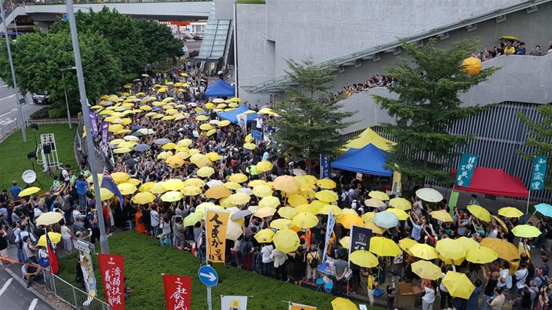 Yellow umbrellas have become a symbol of the 2014 pro-democracy protests [Photo courtesy: Hong Kong Free Press]