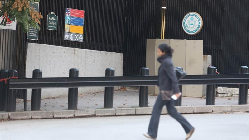 The US embassy said that it would make an announcement when it was ready to reopen [Reuters]