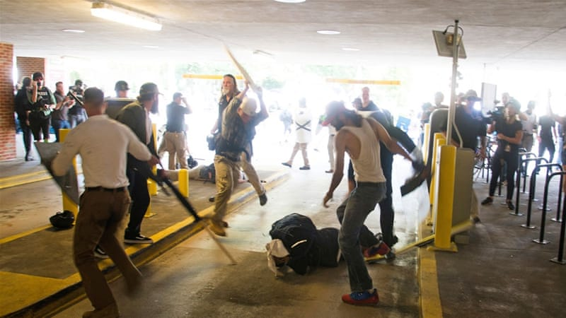 Organisers say the men were charged because the police failed them [Zach Roberts/AP Photo]