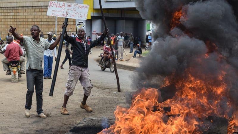 kenya police shoot dead two opposition protesters kenya news al rh aljazeera com kenya airways kenya map