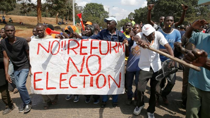 What is happening with the Kenyan election?