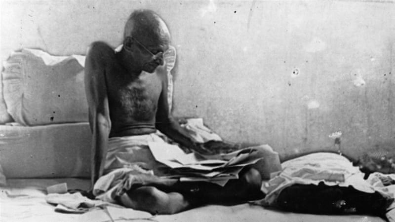 Mahatma Gandhi on non-violence and democracy