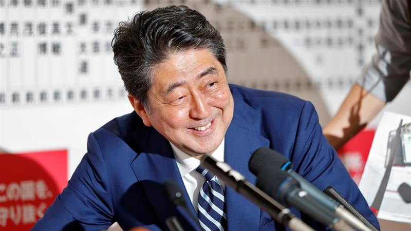 Shinzo Abe on way to big parliamentary election win
