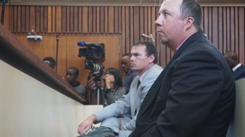 White South African farmers forced black man into coffin