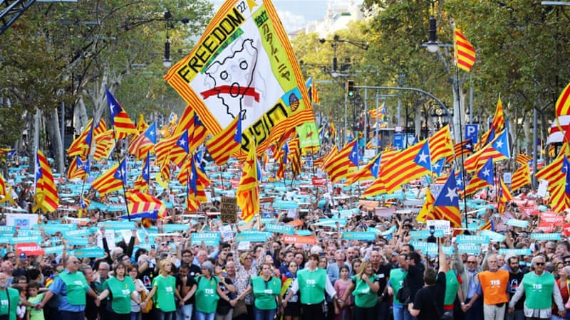 article 155 will eliminate full democracy in catalonia spain al