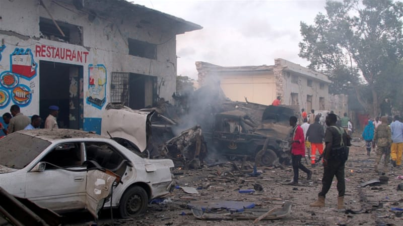 Al-Shabab has claimed responsibility for the attacks [Feisal Omar/Reuters]