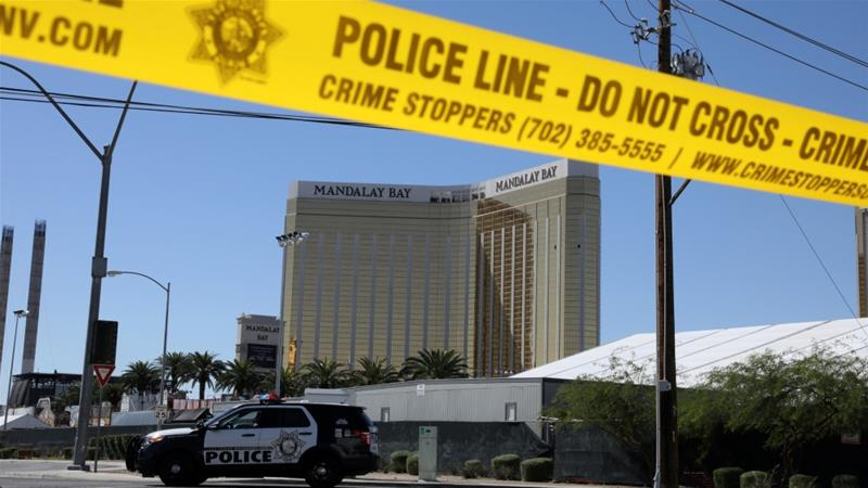 The site of the mass shooting outside the Mandalay Bay Resort and Casino in Las Vegas, Nevada [File: Lucy Nicholson/Reuters]