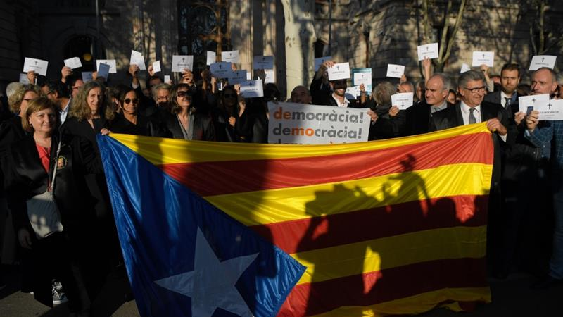 Catalonia's referendum on independence returned a 90 percent vote in favour of secession from Spain [Lluis Gene/AFP/Getty Images]