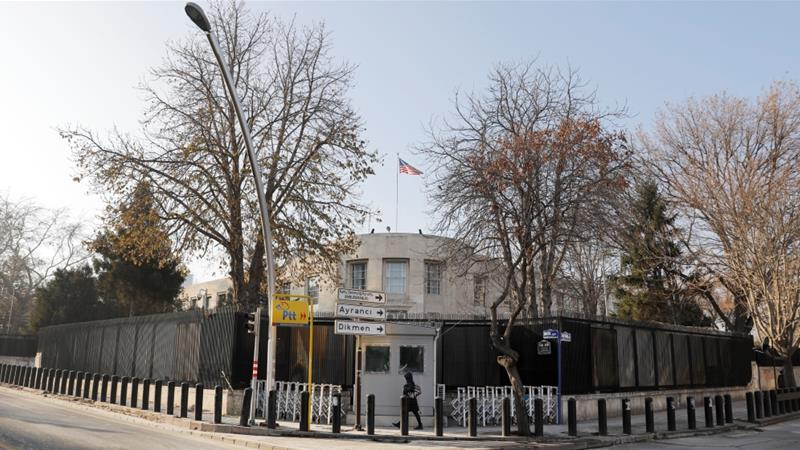 A general view of the US Embassy in Turkey's capital Ankara