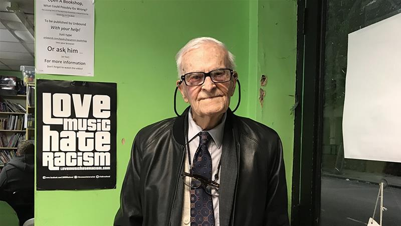 Harry Leslie Smith, a British veteran and activist, has died at the age of 95 [Anealla Safdar/Al Jazeera]
