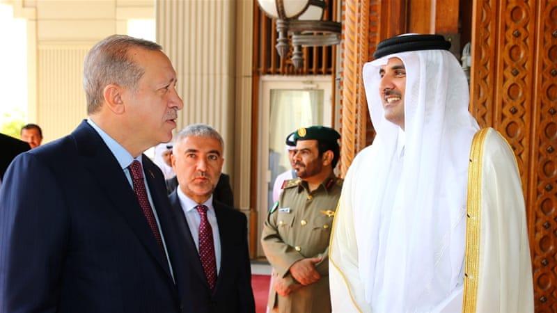 Turkey's President Erdogan meets Qatar's Emir