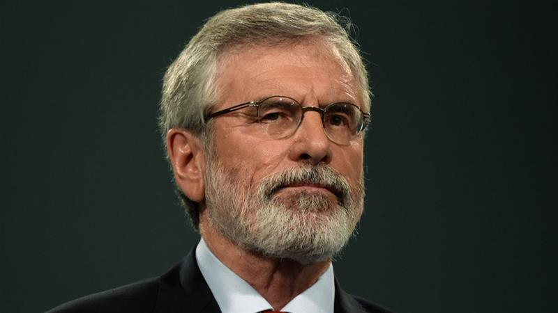Gerry Adams led the Irish republican party Sinn Fein from 1983 before stepping down in February [File: Reuters]