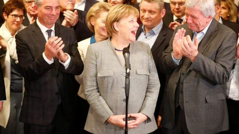 Merkel is due to meet the German President Frank-Walter Steinmeier, who could call for new elections [Reuters]