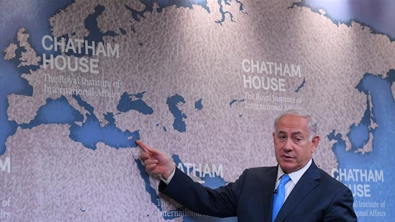 Israel's Prime Minister Benjamin Netanyahu attended a question and answer event on Israel's foreign policy at Chatham House in London on November 3 [Reuters/Toby Melville]