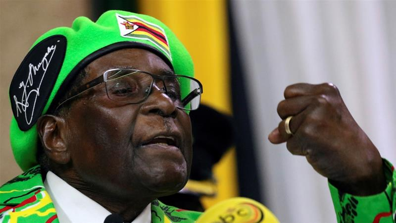 Who is in charge of Zimbabwe?