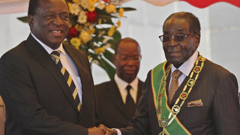 President Robert Mugabe announced his resignation on November 21. His most likely successor is former Vice President Emmerson Mnangagwa [Reuters/Philimon Bulawayo]
