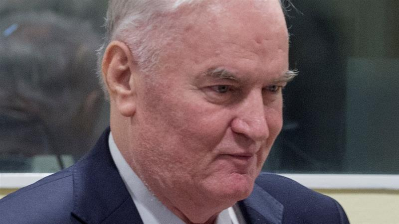 Bosnian Serb wartime general Ratko Mladic appeared in court the receive the verdict [Peter Dejong/Reuters]