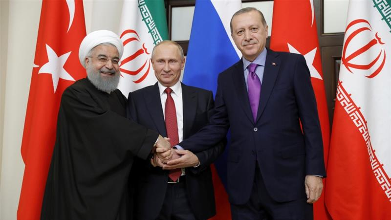 Image result for erdogan, rouhani, putin, picture, al jazeera