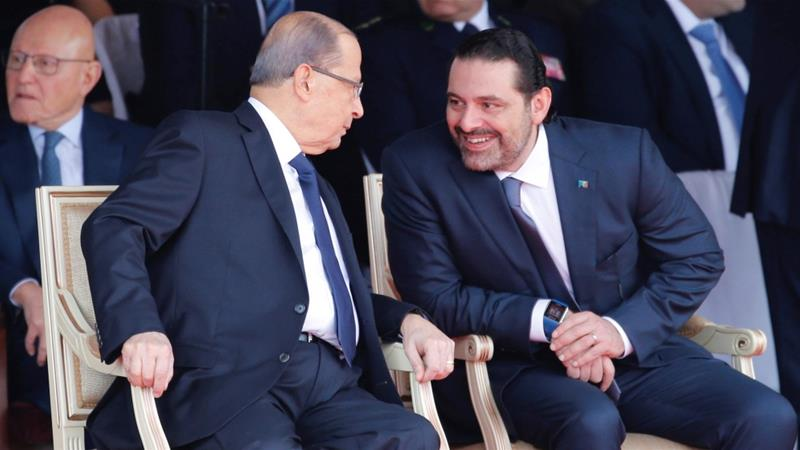 Lebanese PM Saad al-Hariri addressed the nation following a private meeting with the president in the capital, Beirut [Reuters]
