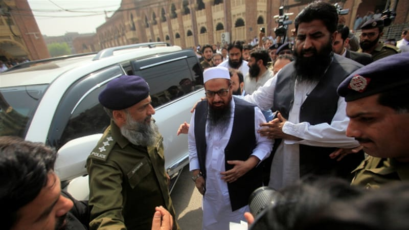 Saeed gives Friday sermon after release from house arrest
