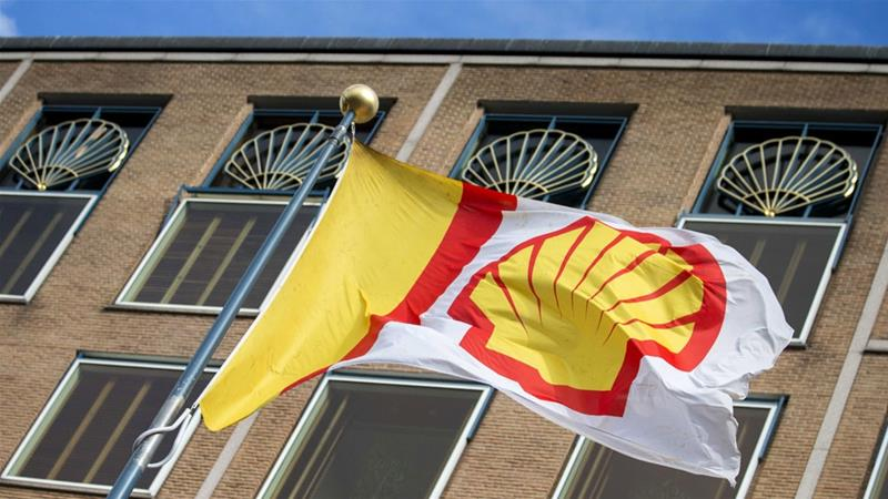 Royal Dutch Shell denied it was involved in human rights violations [Jerry Lampen/EPA]