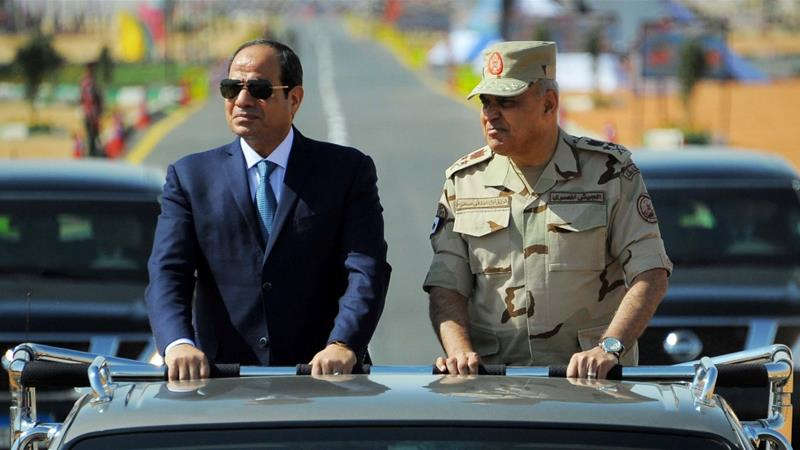 El-Sisi won March's controversial presidential election with 97 percent of the vote [Reuters]