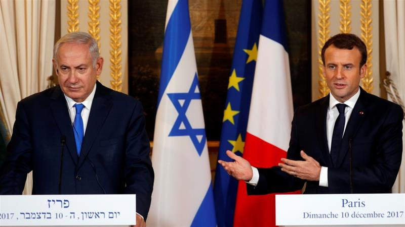 US Jerusalem Move Dominates Macron-Netanyahu Talks