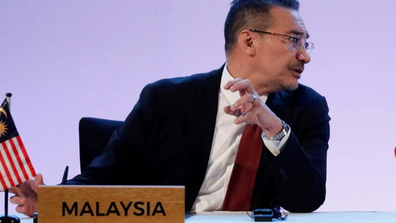 The Malaysian Armed Forces are waiting for instructions from the top leadership, the Defence Minister Hishammuddin Hussein said [Dondi Tawatao/Reuters]