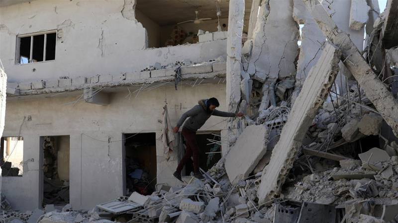 Russian, Syrian jets hit Aleppo, Damascus countryside