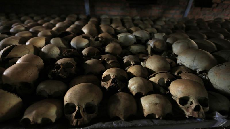 More than 800,000 people were killed over a 100-day period in a genocide by ethnic Hutus against Tutsis [Noor Khamis/Reuters]