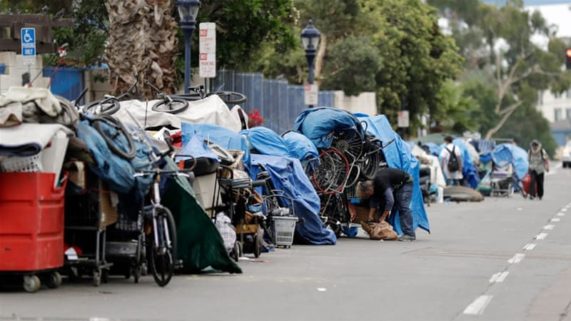 According to government figures, 40 million people live in poverty in the US [File: Gregory Bull/AP Photo]